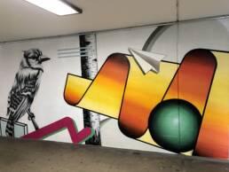 Viva Colores Bahnhofunterführung Schlieren Graffiti Sprayer Sprayerei Wandbild Malerei Unterführung