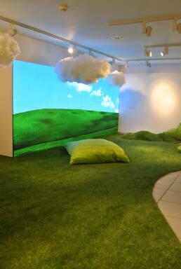 Microsoft Popup Zürich Kunstrasen Sitzkissen Wolken Lampen Viva Colores Handwerk Unikat Dekoration Einrichtung Deko